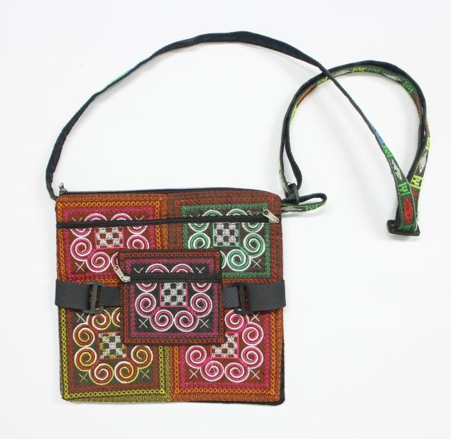 Vietnam embroidery brocade style handbag