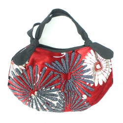 Handmade floral beaded handbag