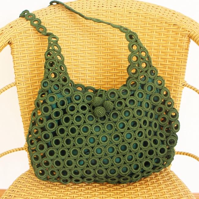 Crochet Rings Shoulder Bag