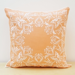 Embroidered Decorative Cover with Abstract Design