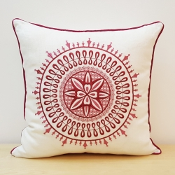 Suzani Inspired Embroidery Pillow Cover