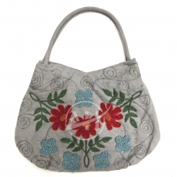 Handmade Suede Embroidered Woman Shoulder Bag