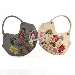 Botanical Embroidery Shoulder Bag