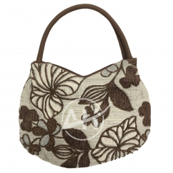 Botanical Woman Beaded Shoulder Bag