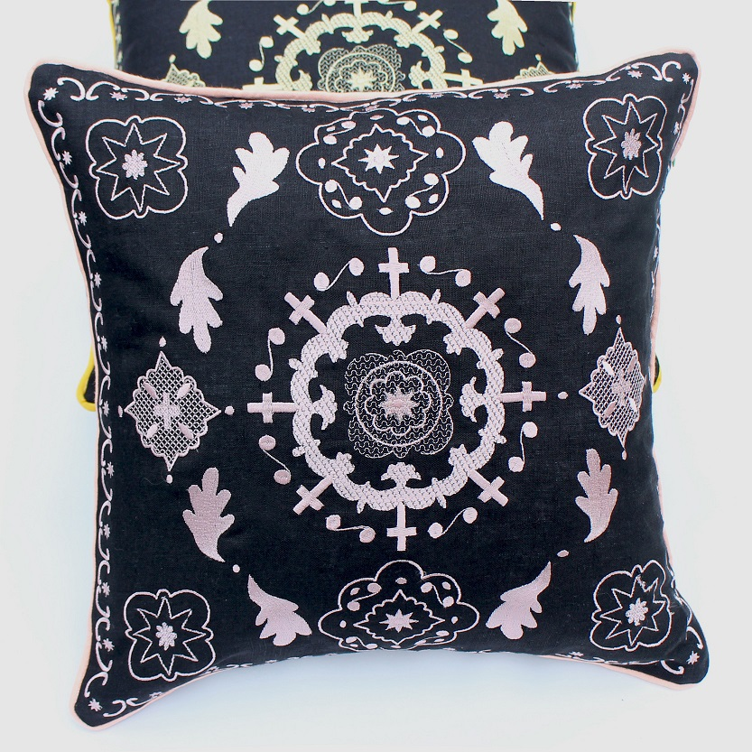 Suzani embroidred  cushion cover