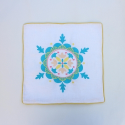 Beautiful embroidered linen decorative pillow or cushion cover