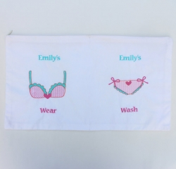 Personalized embroidered laundry bag