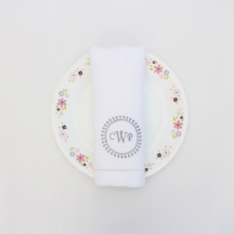 Personalized monogram linen napkin
