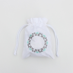 Personalized cotton drawstring pouch bag