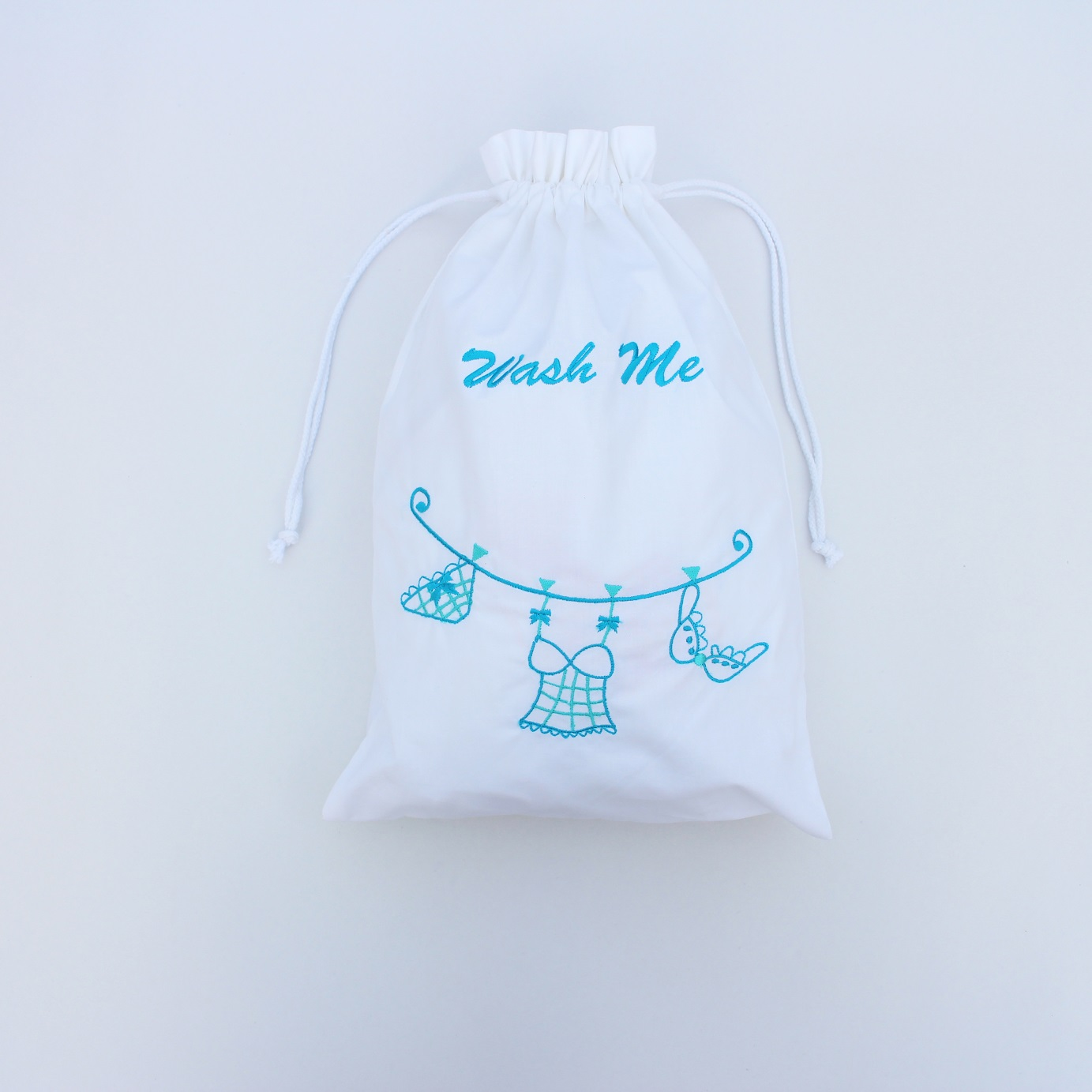 Blue cotton cloth line lingerie bag