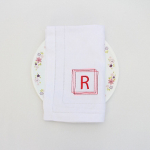 Wedding monogram napkin
