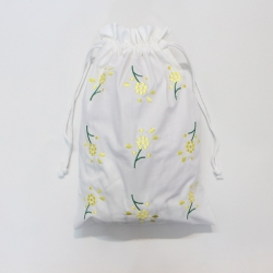 Mimosa flowers embroidered lingerie bags