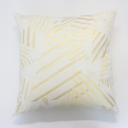 Abstract triangles linen decorative pillow
