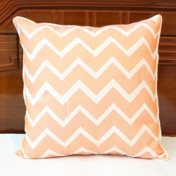 Chevron embroidered linen decorative pillow cover