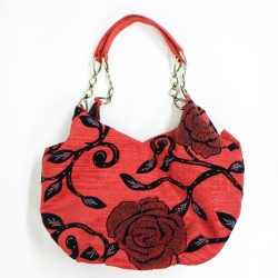 Red rose woman fashion bag