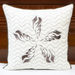 Linen beach house decorative pillow